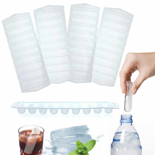 4 Pc Plastic Ice Cube Stick Tray Water Sport Bottle Drink Jello Candy Soap Mold