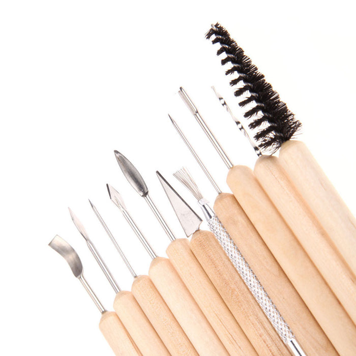 11PC Sculpting Tools Set Wax Carvers Stainless Steel Carving Wood Clay Taxidermy