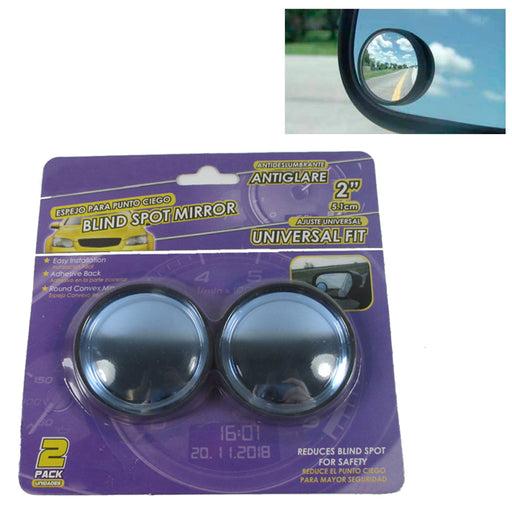 "2 Blind Spot Mirror Universal 2"" Round Convex View Rear Side Add Car Auto Safety"