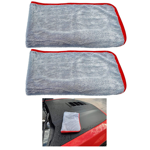 2pc Super Absorbent Drying Towel Jumbo Cloth Detail Wash Car Vehicle Washing 30""