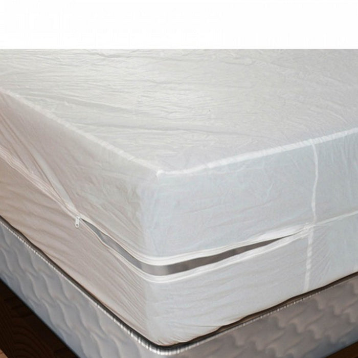 6 Twin Size Mattress Cover Vinyl Waterproof Zippered Block Allergy Bug Dust Mite