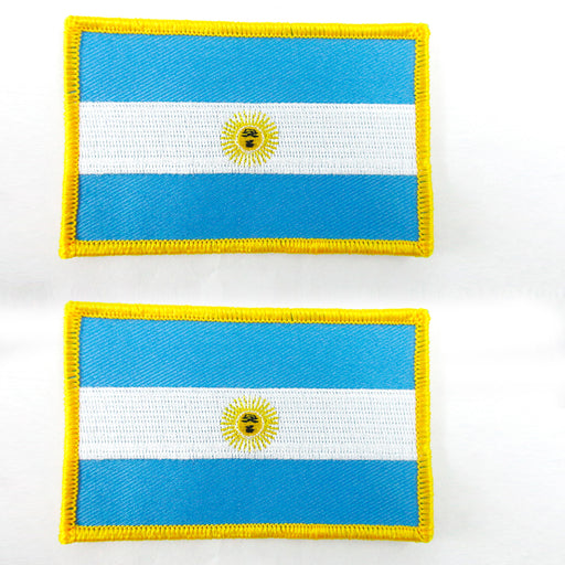 2 Argentina Flag embroidered iron-on Patch Buenos Aires National Emblem Applique