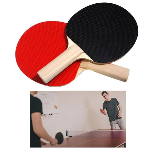 2 X Ping Pong Paddle Set Table Tennis Recreational Indoor Outdoor Sports Games