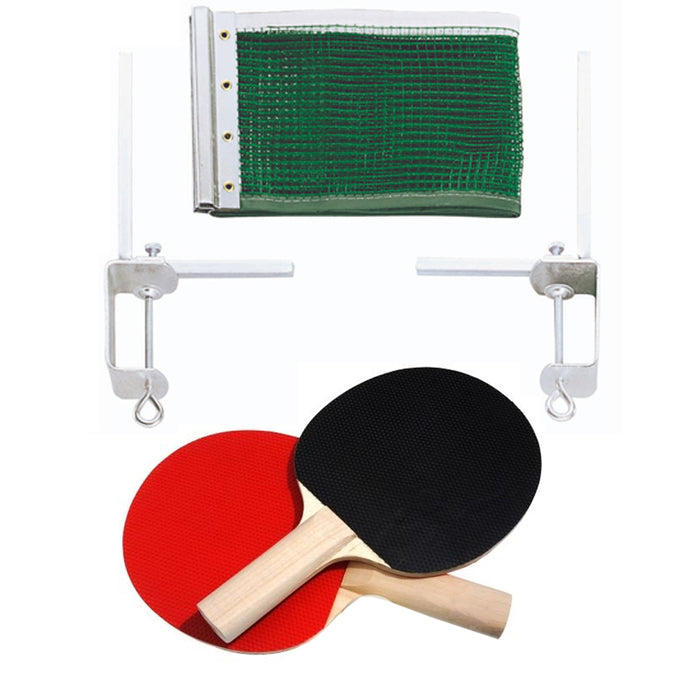 5pc Ping Pong Net Post Paddle Set Table Tennis Replacement Indoor Sports Games