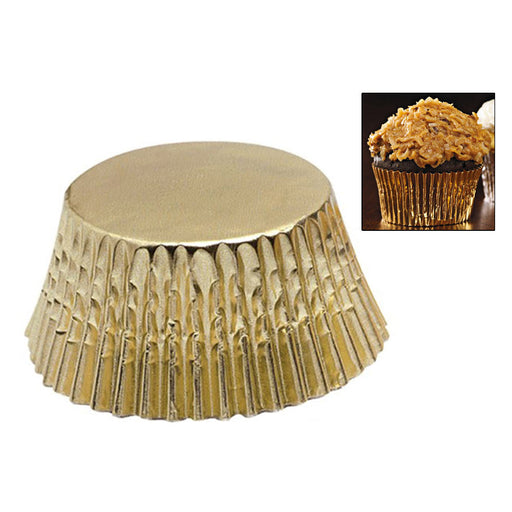 180 Gold Foil Cupcake Liners Baking Cups Cake Cupcake Muffin Cookie Decorations