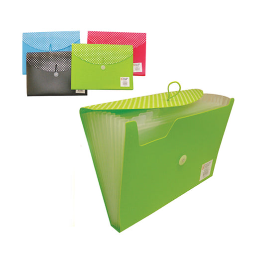 Expandable 13 Pocket File Folder Paper Organizer Accordion School Office New !