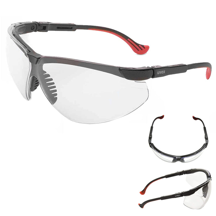 Uvex S3300X Genesis XC Safety Eyewear Black Frame Clear UV Extreme Anti-Fog Lens