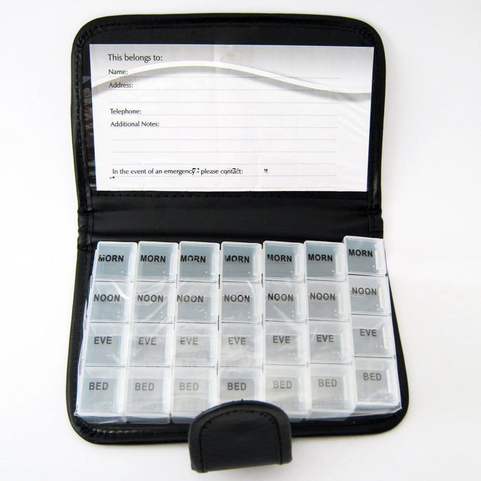 Deluxe 7 Day Pill Organizer Dispenser Box In Wallet Weekly Medicine Travel Case