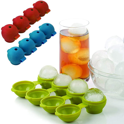 1 Round Silicone Ice Tray Glasses Cube Cup Plastic Mold Cool Jello Party Drinks