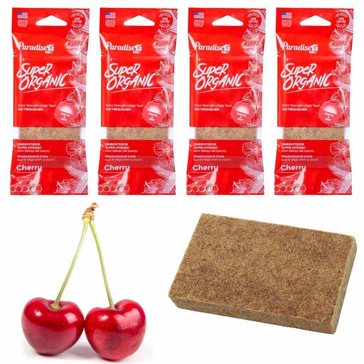 4 Pc Cherry Scent Car Air Freshener Block Stone Under Seat Office Home Fragrance