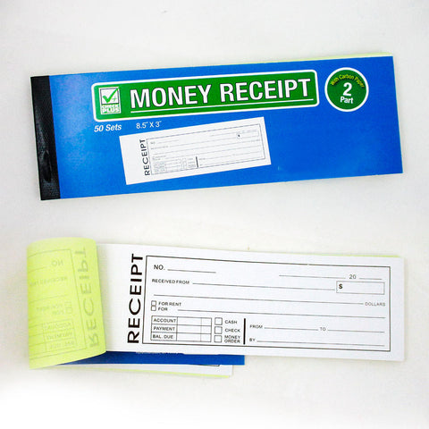 1 Cash Money Rent Receipt Record Book 2 Part 50 Sets Duplicate Copy Carbon New