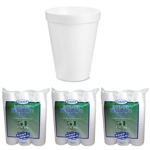 153 Styrofoam 6oz Disposable Coffee Cups Hot Cold Drinking Beverage Insulated