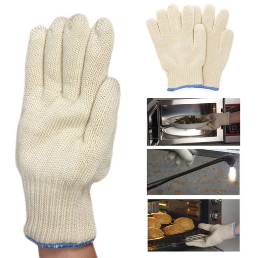 1 Pair Heat Resistant Cooking Oven Mitt BBQ Hot Grilling Gloves 48 F Hot Surface