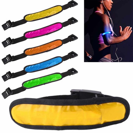 1 Fit LED Arm Strap Glow Band Light Up Sport Runner Fitness Running Reflective