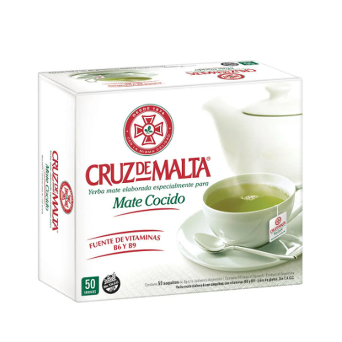 Cruz De Malta Mate Cocido 50 Tea Bags Argentina Herbal Loss Weight Green Diet !
