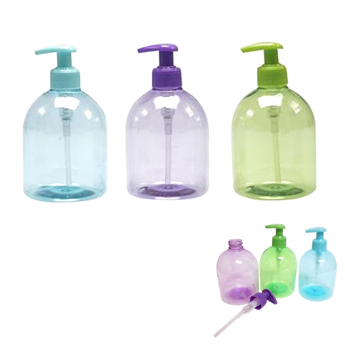 3Pc Plastic Bottle Dispenser Liquid Soap Pump Lotion Refillable Empty Cream 17oz