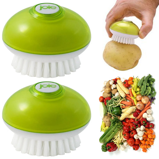 2 Pc Joie Veggie Brush Vegetable Scrubber Potato Cleaning Scrub Fruit Cleaner