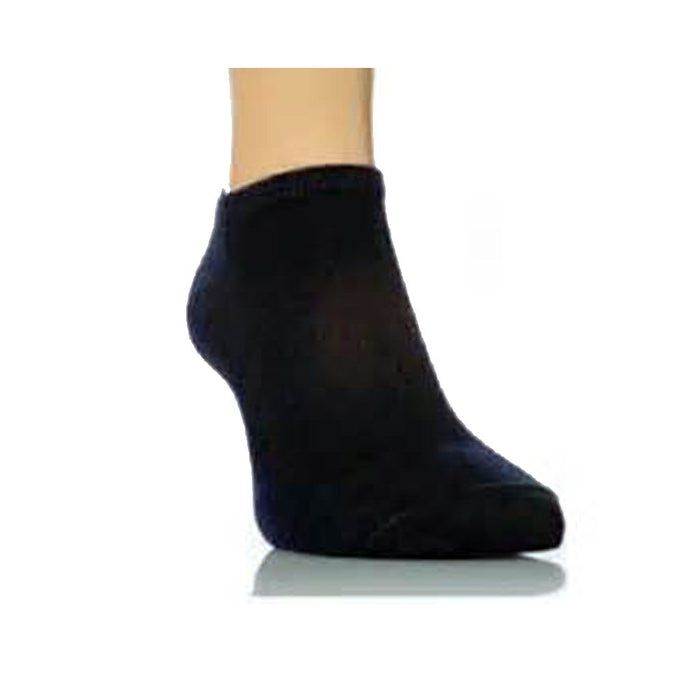 12 Pairs Ankle Socks Mens Women Low Cut Crew Sport Spandex Size 10-13 Black