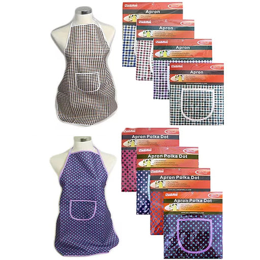 1 Apron Smock Classic Wear Kitchen Cooking Grilling BBQ Chef Cook Bib Pocket