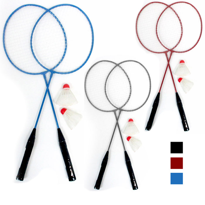 4Pc Badminton Rackets Tennis Set Training Shuttlecocks Birdies Ball Sport Game
