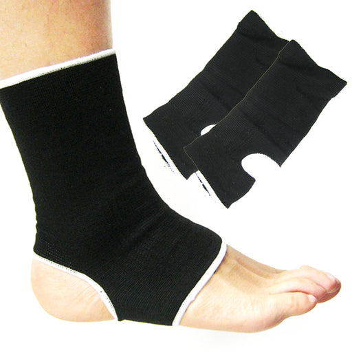 2PC Ankle Support Brace Elastic Sleeve Stretch Sport Compression Fit Pain Relief