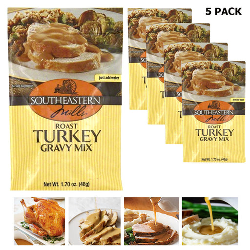 5 Pack Roast Turkey Gravy Mix Seasoning Cooking Thanksgiving Southeastern Dinner