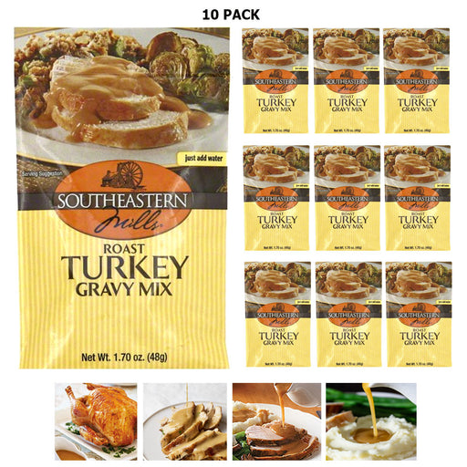 10 PC Roast Turkey Gravy Mix Seasoning Herbs Cooking Thanksgiving Family Dinner