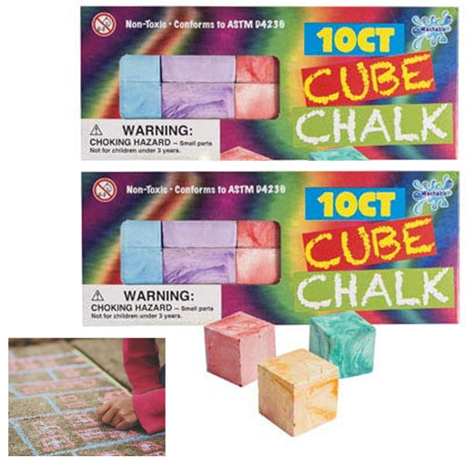 20ct Non-Toxic Cube Chalk Sticks Colors Chalkboard Teaching Class Kids Activity