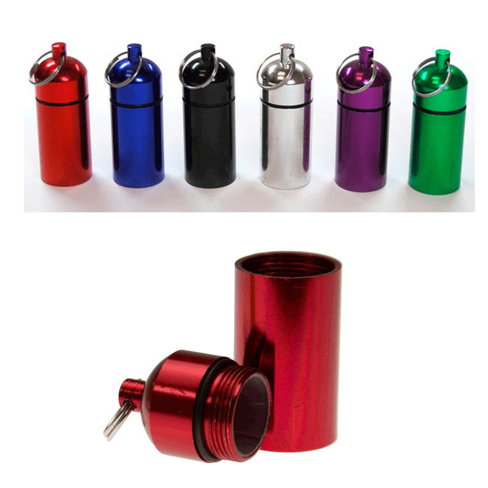 "6 Pc Bison Tubes 2.5"" Geocaching Containers Pill Holder Cache Supplies Geocache"