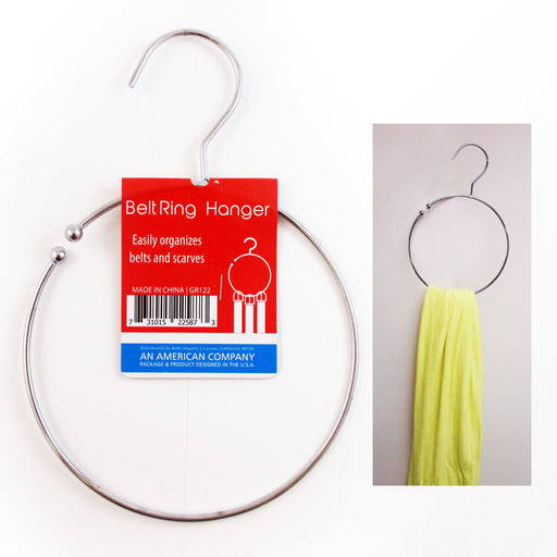 1 Belt Ring Hanger Heavy Duty Dipped Metal Towel Tie Scarf Belt Loop Holder