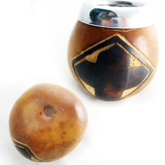Mate Gourd Cup Yerba with Bombilla Straw Kit Artisan Handmade Argentina Gaucho