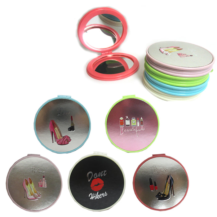 Compact Mirror Cosmetic Folding Makeup Magnifying Round Pocket Purse 2 Side