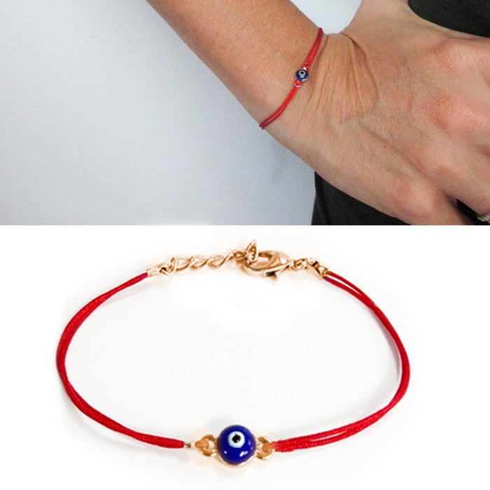 Evil Eye Red String Kabbalah Bracelet Mati Nazar Good Luck Charm Protection Gold