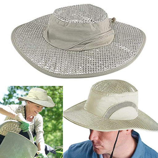 1 Cooling Fisherman Hat with UV Protection Cap Hiking Camping Gardening Beach