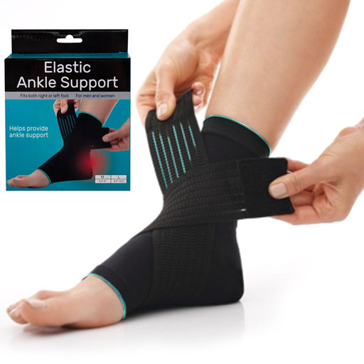 1 Ankle Support Wrap Elastic Brace Sleeve Muscle Arthritis Pain Relief Gym Sport