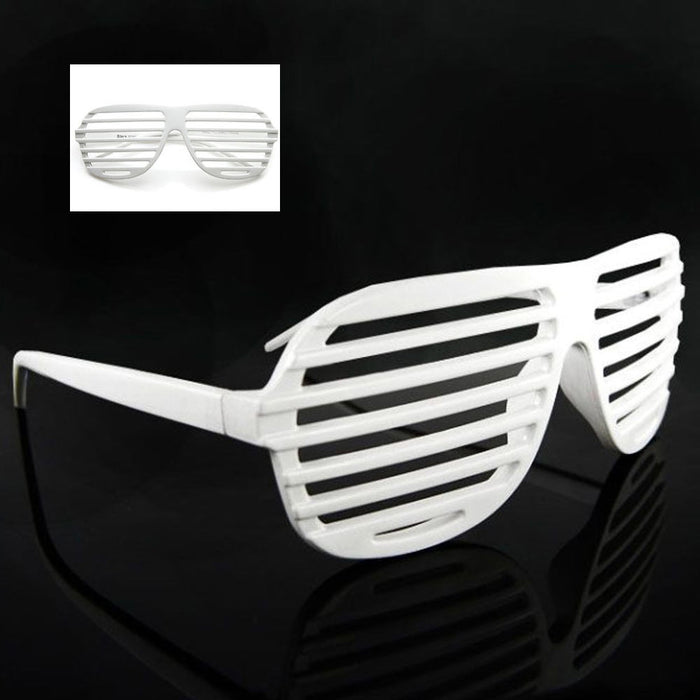 Novelty Sunglasses Shutter Neon Color Shades Vintage Party Retro Fashion Glasses