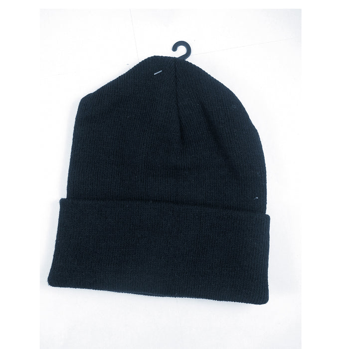 3 Plain Beanie Ski Cap Skull Hat Warm Solid Color Winter Cuff New Beany Men Lady