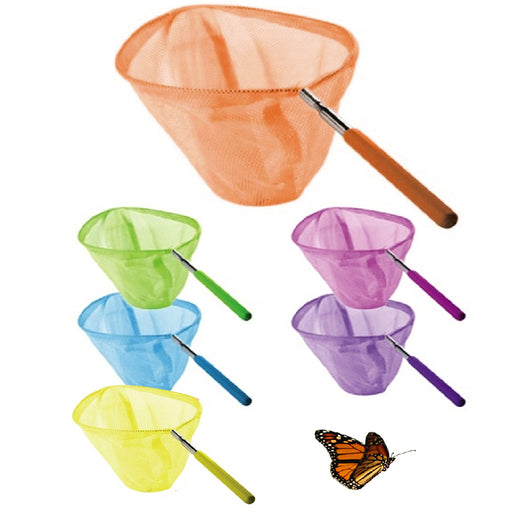 "2 Pcs Butterfly Nets Insect Catching Bugs Diameter 34"" Extendable Handle Kids !!"