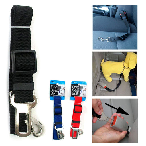 1 Pet Seat Belt Dog Safety Adjustable Clip Car Auto Travel Vehicle Safe Puppy