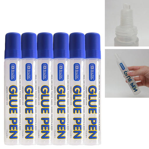 24 Pack Multi Purpose Glue Pen Adhesive Permanent Washable Dries Clear Non Toxic