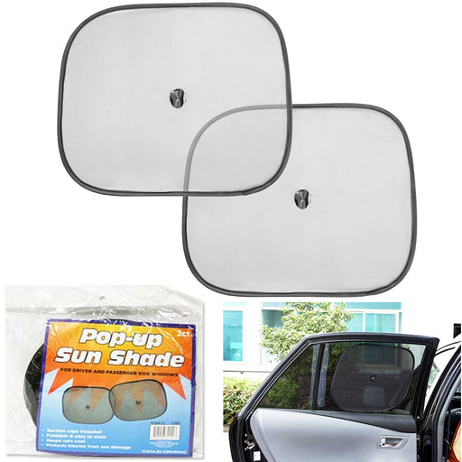 2 Pc Pop-Up Auto Sun Shade Passenger Side Windows Heat Reflector Car SUV Truck