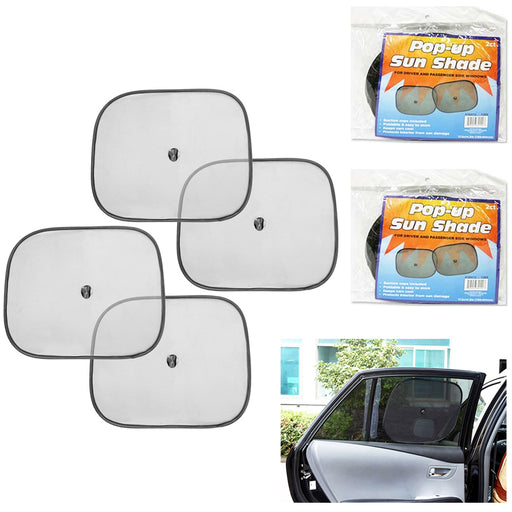 4 Pc Pop-Up Auto Sun Shade Passenger Side Windows Heat Reflector Car SUV Truck