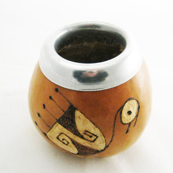Mate Gourd Yerba Tea With Bombilla Straw Kit Argentina Drink Artisan Handmade