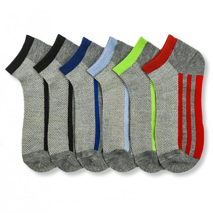 3 Pairs Ankle Quarter Crew Mens Stretchy Socks Low Cut Size 9-11 Sport 6 Styles