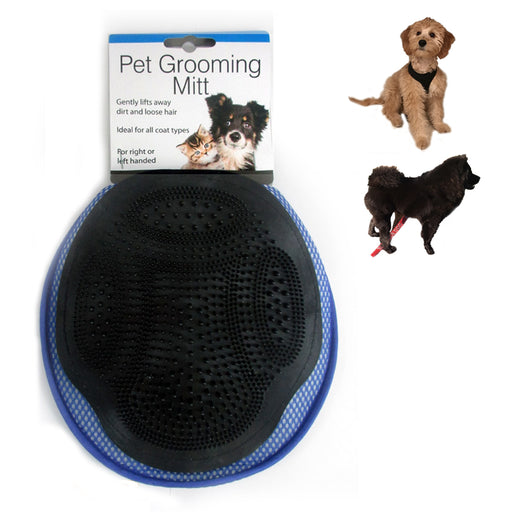 1 Grooming Mitt Cat Dog Rabbit Massage Pet Bath Hair Fur Glove Brush Comb Scrub