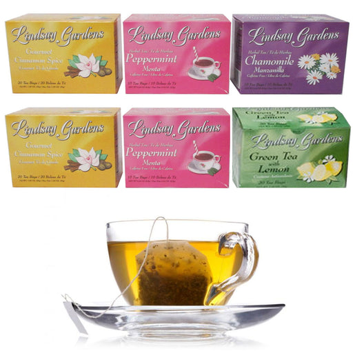 6 PackTea Bags Detox Herbal 100% Premium Flavor 104 Pcs Detox Assorted Flavors