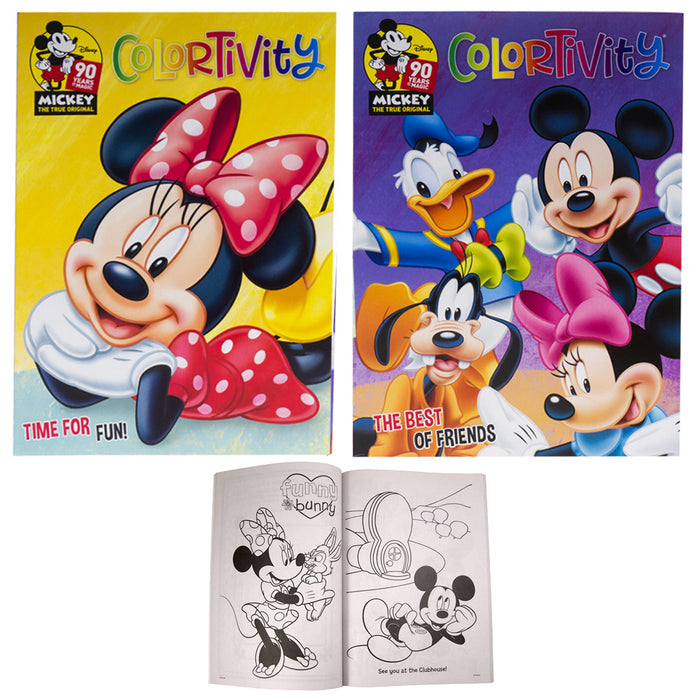 2 Pack Coloring Books Minnie Mickey Mouse Color Pages Kid Art Craft Activity Fun