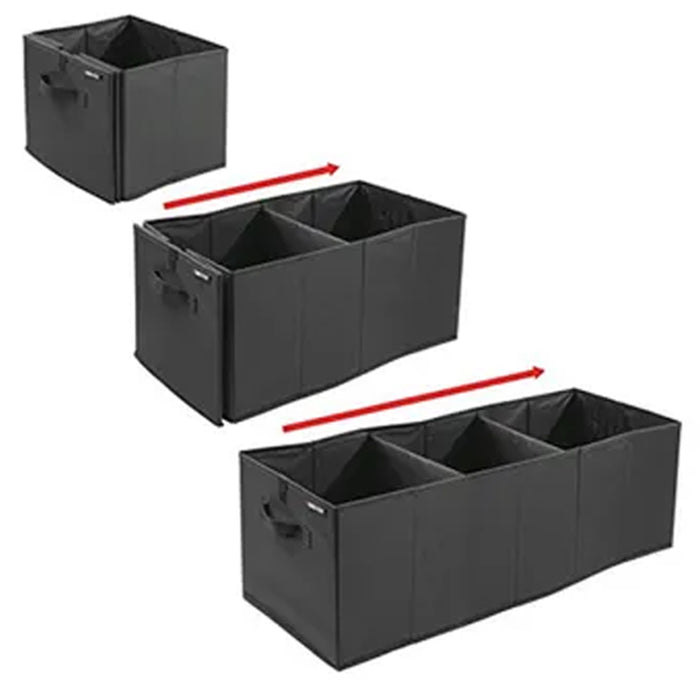 1 Expandable Cargo Organizer Collapsible Fold Trunk Caddy Car Auto Storage Bin