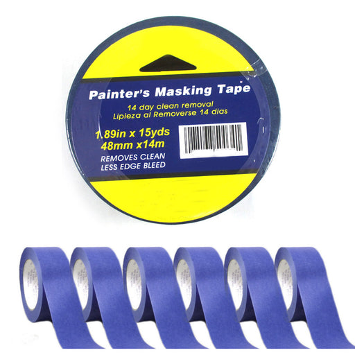 "6 Rolls Painters Masking Paint Tape Blue 1.89""x15Yd Multi Surface Premium Grade"
