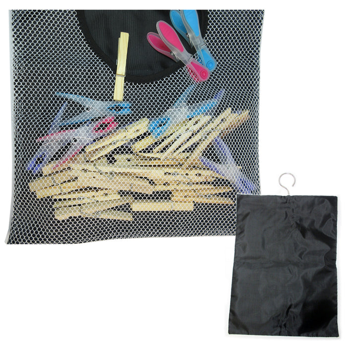 Clothespins Peg Bag Holder Storage Household Laundry Organizer Clothes Pin 11X18